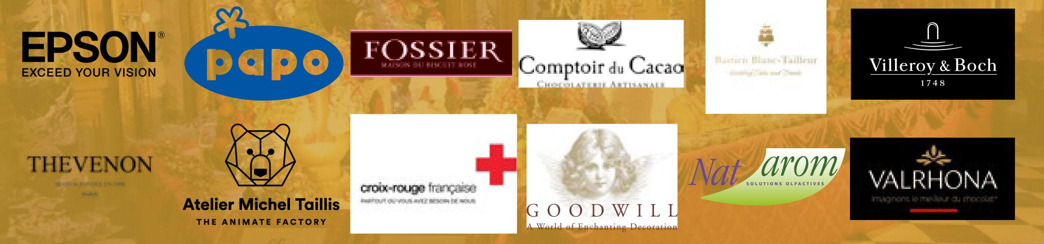Bandeau logos partenaires Vaux-le-Vicomte fête Noël