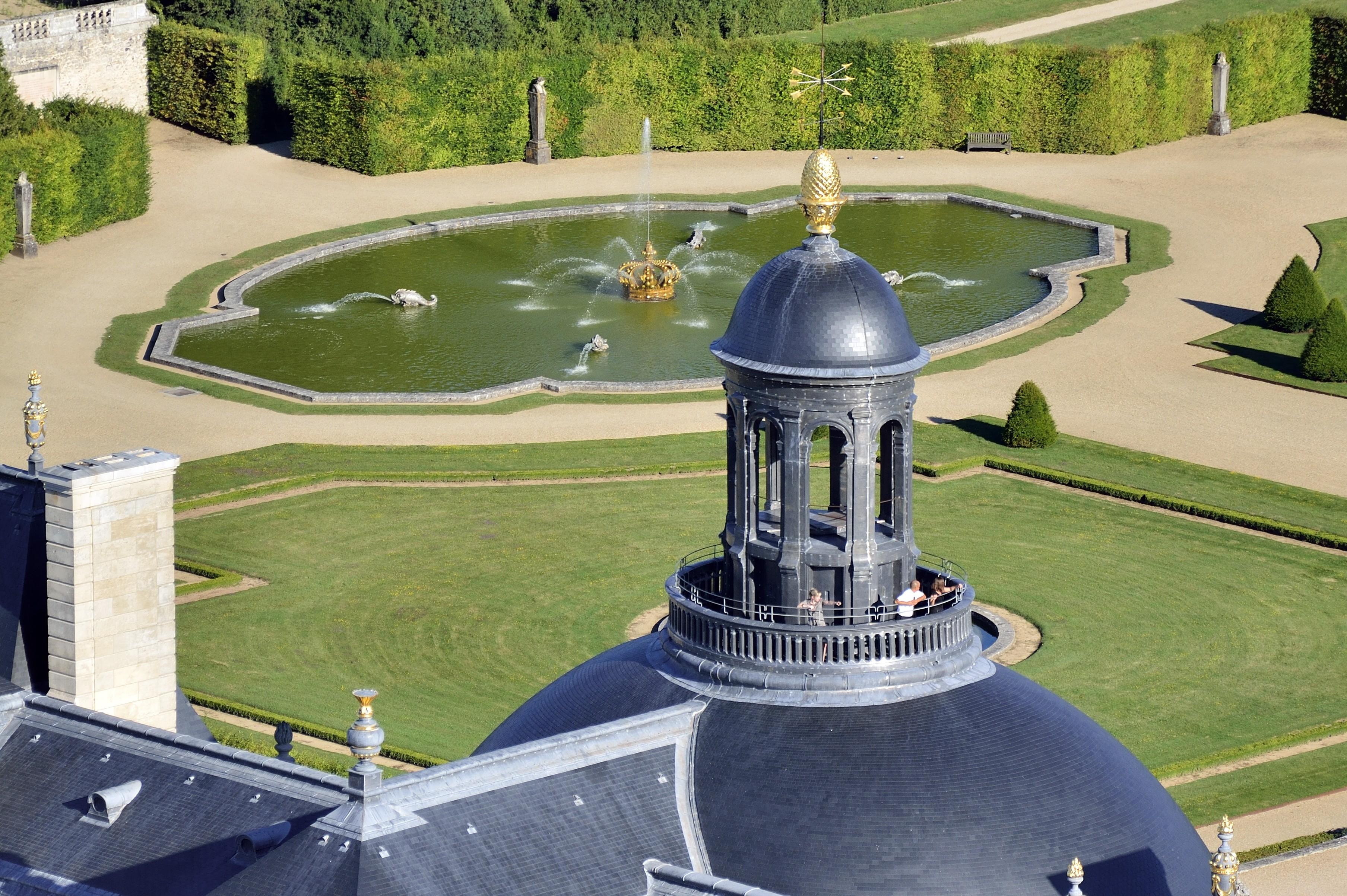 Vue du dôme, vue du bassin, Lourdel et Chicurel