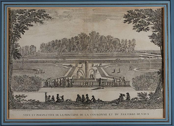 Gravure d'Israël Silvestre - jeux d'eau bassin de la couronne