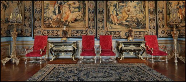 Chambre des Muses du Château de Vaux-le-Vicomte